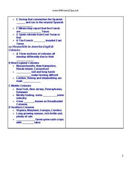 Notes Outline Unit 04 Spanish Colonization