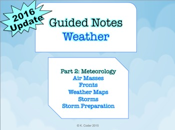 NOTES BUNDLE - Meteorology *EDITABLE* (w/ PowerPoint)