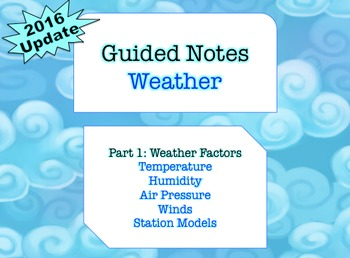 NOTES BUNDLE - Weather Factors *EDITABLE* w/ PowerPoint!
