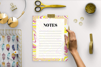 Note Page - Modern Marble Backgroud