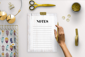 Notes Page - White Wood Background