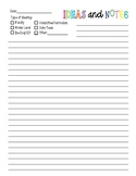 Notes Page for