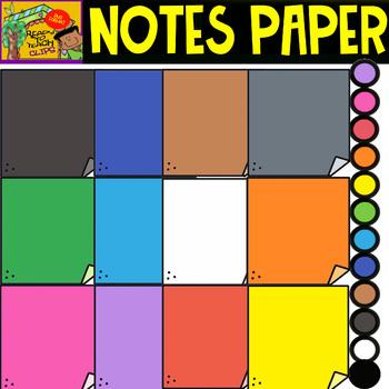 Notes Paper - School Supplies - Cliparts set - 12 Items