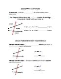 Geometry Notes (Parallel Lines & Transversals) - LInes & T