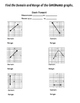 Notes/Practice: Domain and Range from Discrete and Continuous Graphs