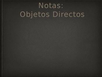 Notes - Pronombres de objeto directo - Direct object pronouns
