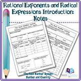 Notes: Rational Exponents and Radical Expressions Introduction