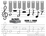 Notes & Rest Practice Notation / MrMikesMusicMats