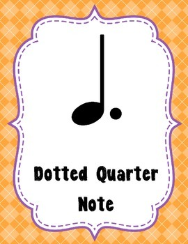 Notes & Rests Posters - Woodland Critters Theme