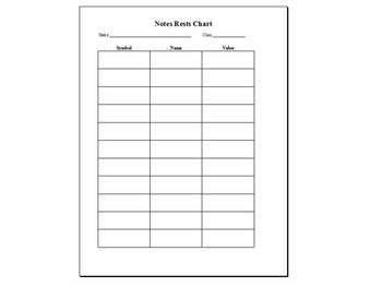 Notes & Rests Worksheet