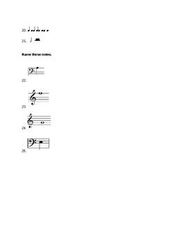 Notes & Rhythms Quiz