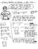 Notes: Solving Equations with Variables on Both Sides - Algebra