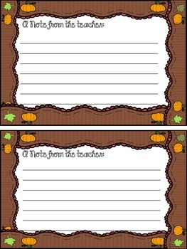 Notes & Stationary: MONTHLY