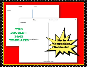 Notes Template for Interactive Notebook - Dollar Deal!
