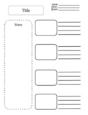 Notes Template x4