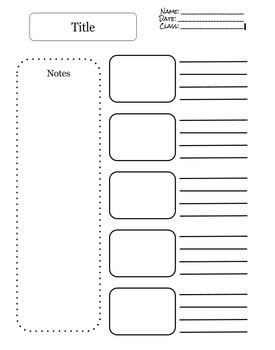 Notes Template x5