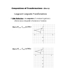 Geometry Notes (Transformations) - Compositions of Transformations