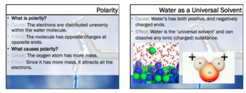 Notes Unique Properties of Water