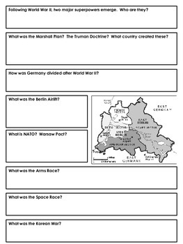 Notes: WWI, WWII, Cold War