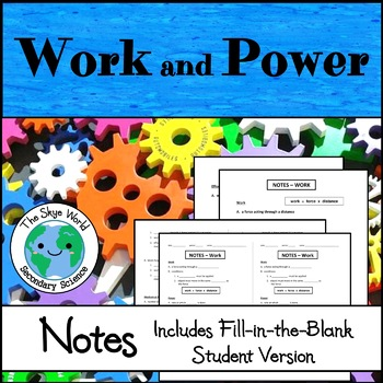 Notes - Work