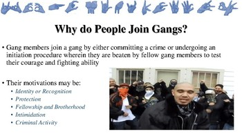 Notes about Gangs for Law Enforcement