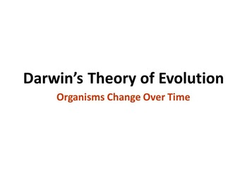 Notes and Activities for The Theory of Evolution
