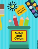 Notes and Colors - Rhythms and Notes Identification