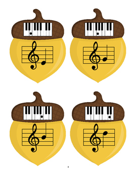 Notes and Keys: Fall Piano Packet