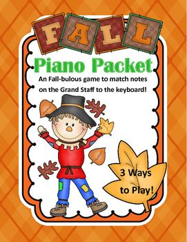 Notes and Keys: Fall Piano Packet