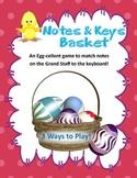 Notes and Piano Keys Basket