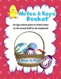 Notes and Piano Keys Basket