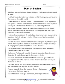 Notes and Reading: Telling time in French