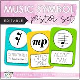 Music Symbol Posters {EDITABLE}