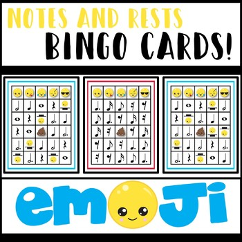 Notes and Rests Bingo - Emoji Edition