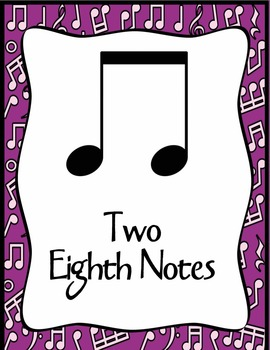 Notes and Rests Classroom Poster Set