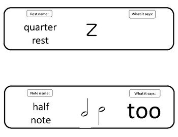 Notes and Rests Display