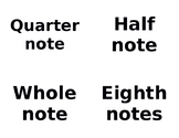 Notes and Rests Flashcards