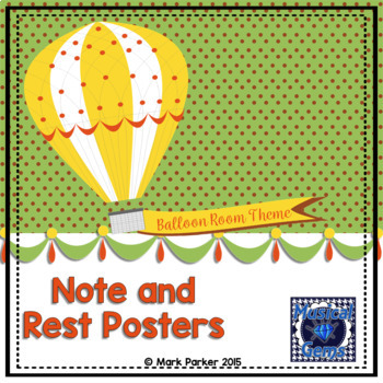 Notes and Rests Posters
