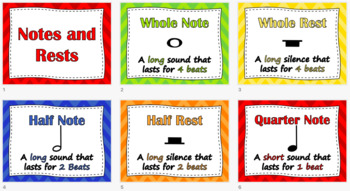 Notes and Rests/Rhythm Posters (Rainbow)