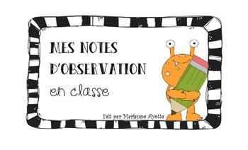 Notes d'observation