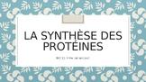 Notes de cours- La synthèse des protéines