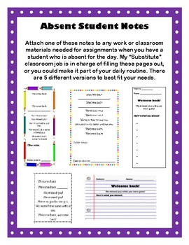 Notes for Absent Students