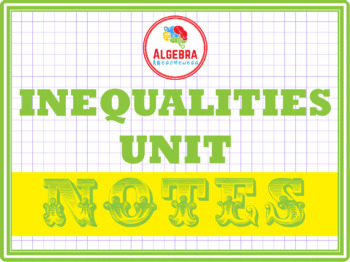 Notes for Inequalities Unit