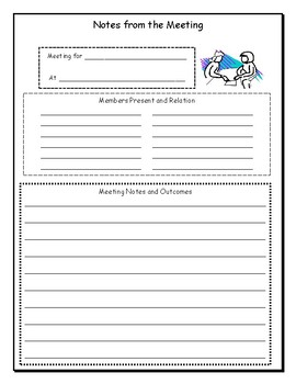 Notes for Parent Meetings