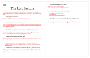 """Notes for Randy Pausch's """"Last Lecture"""""""