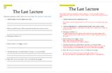 "Randy Pausch's ""Last Lecture"" & ALS WebQuest (Intro to Tue"