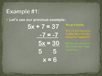 Notes for Solving Two, Three, and Four Step Equations
