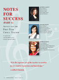 Notes for Success Part 1 (courtesy of The Choral Journal)