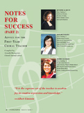 Notes for Success Part 2 (courtesy of the Choral Journal)