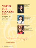 Notes for Success Part 3 (courtesy of the Choral Journal)